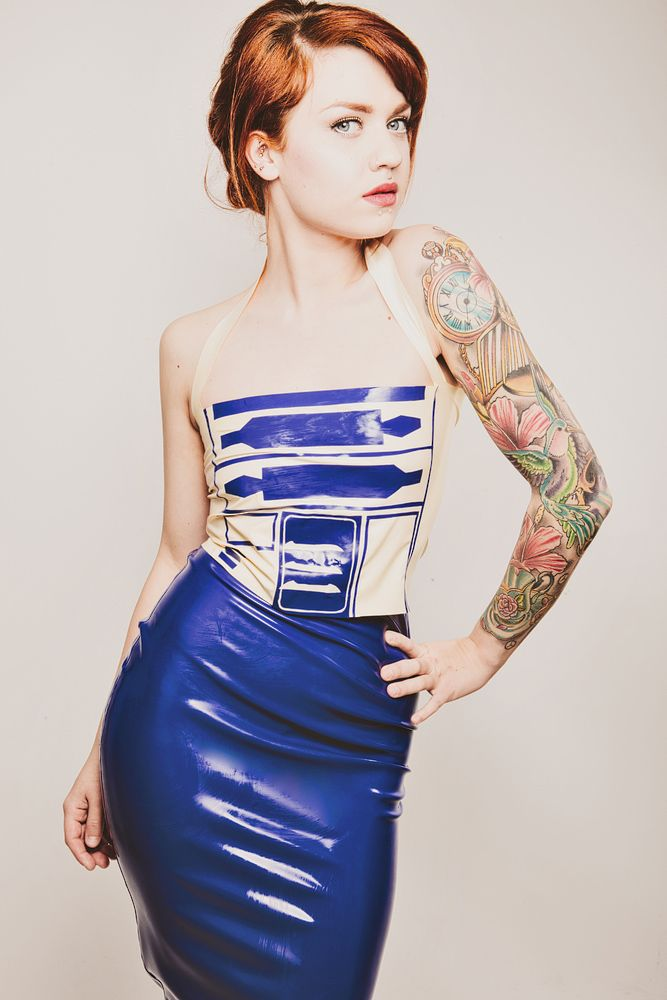 R2D2 Latex dress by Sophie Cash