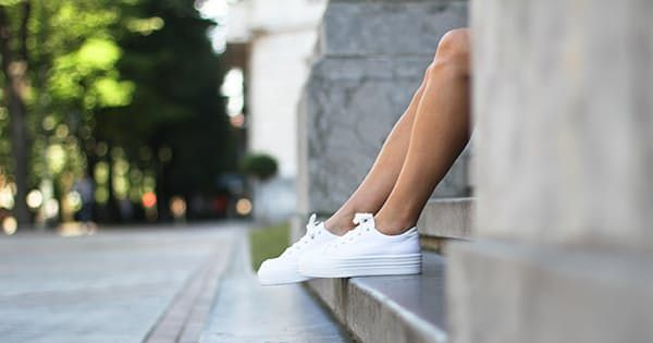 How to Keep Your White Sneakers Looking New via @PureWow