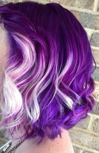 blueberry yogurt haircolor violet ombre bob purple hair color idea lavender ombre