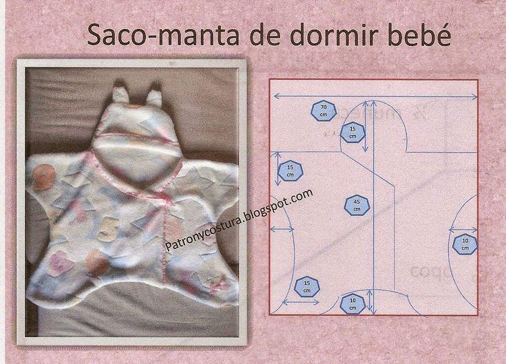 Patrón y costura : saco de dormir de bebé- tema 70