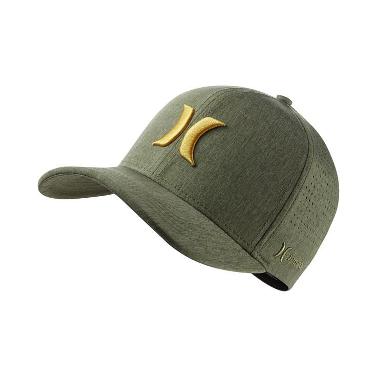Hurley Phantom Vapor 3.0 Men's Fitted Hat Size Large/XL (Green) - Clearance Sale