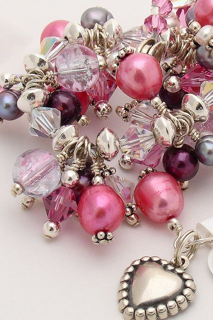 Pink freshwater pearls .... ♥♥ ....