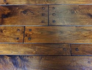 Select hardwood floor co walnut plank with square pegs for Square hardwood flooring
