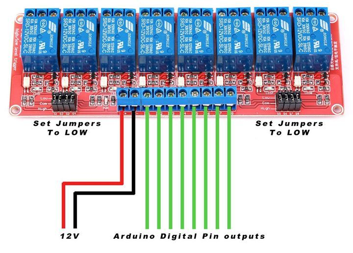 has anyone else connected this type of 8 channel relay 8 Channel Relay Arduino Wiring External Power