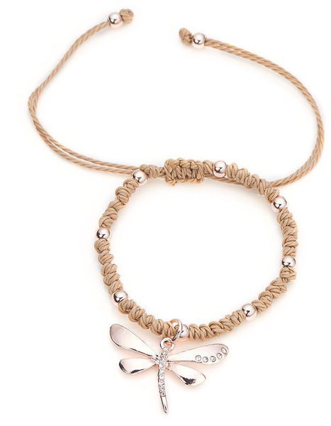 Rose+Gold+Dragonfly+Friendship+Bracelet+from+ClutchandClasp+by+DaWanda.com