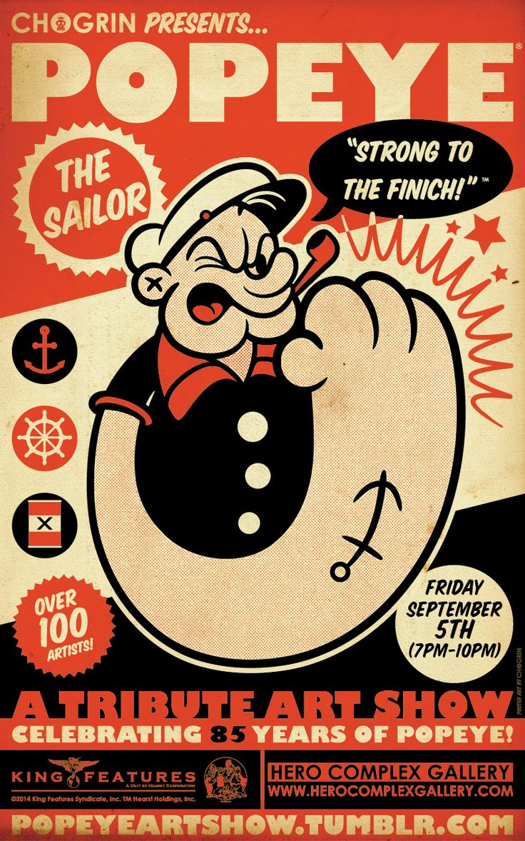 Strong to the Finich – An Official Popeye Art Show @Hero Complex Gallery