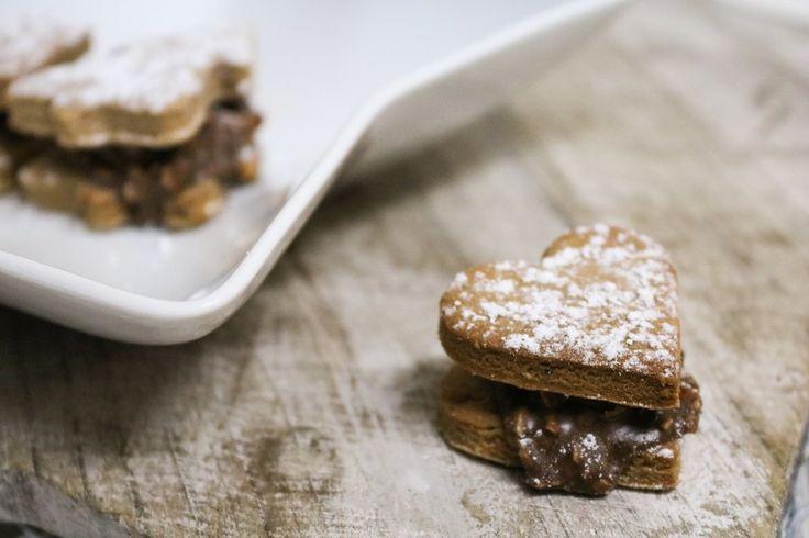 Nutella Herzen Rezept für Keks mit Nutella Füllung