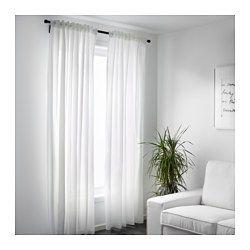 IKEA - VIVAN, Gardinenpaar, , Die transparenten Gardinen sind perfekt für Fensterdekoration in mehreren Lagen, da sie das Tageslicht sanft filtern.Mit Gardinenband; lässt sich kombiniert mit RIKTIG Haken einfach in effektvolle Falten legen.