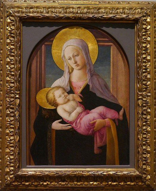Bottega di Fra' Filippo Lippi. La Vergine e il Bambino (1450-1460 ca). Londra, National Gallery