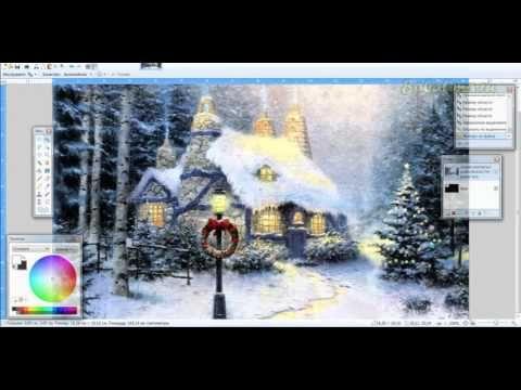 Составляем принты для МК Рождественские фонари в Paint.Net