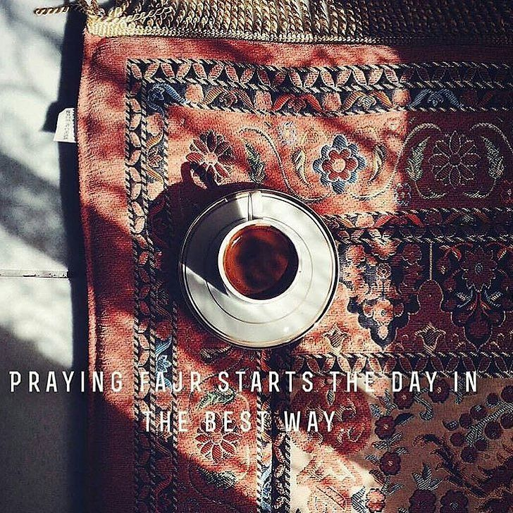Praying fajr namaz starts the day in a beautiful way .
