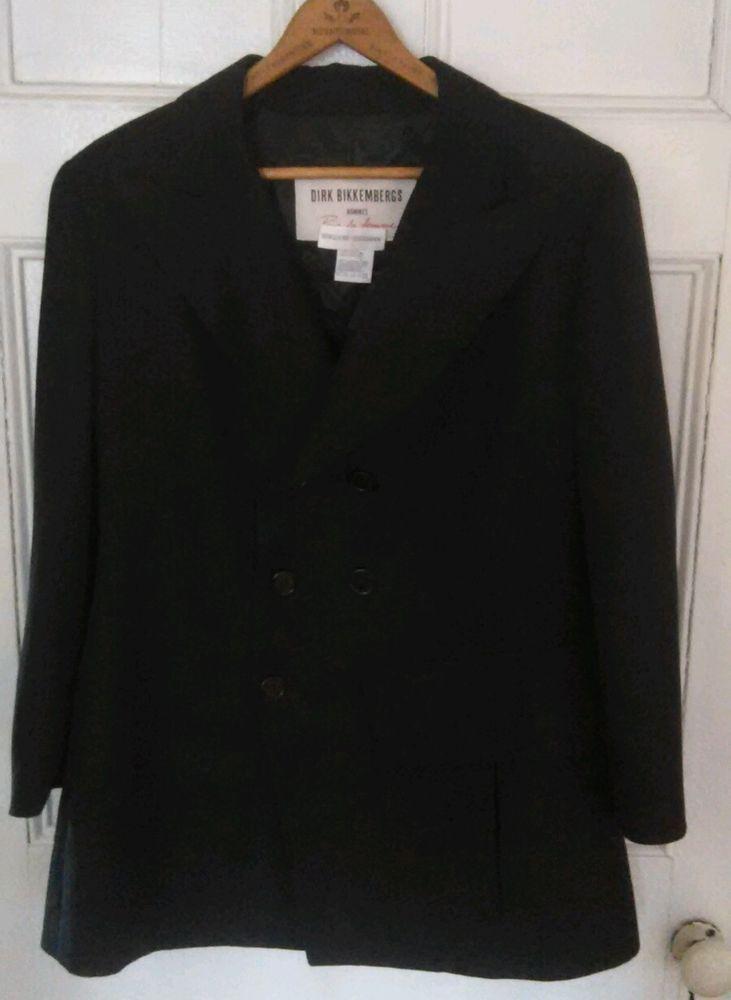 DIRK BIKKEMBERGS Hommes Pour de la Femme Womens Blazer Black Size 10/12