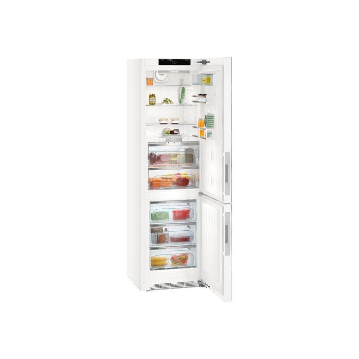 LIEBHERR CBNPgw 4855 - BluPerformance, Premium, A+++ , objem chladničky 146 l., BioFresh 97 l., objem mrazničky 101 l., 3 zásuvky, ventilátor,SoftSystem,dveře skleněné bílé.