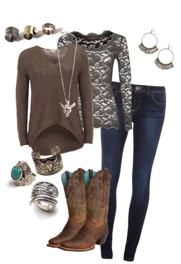 """.. cowgirl chic .."" by mattiestockman on Polyvore"