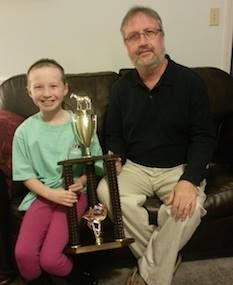 Season 29 Training Title Champion Eddie of TaylorandTaryn pictured here with Taryn there trophy. Congratulations