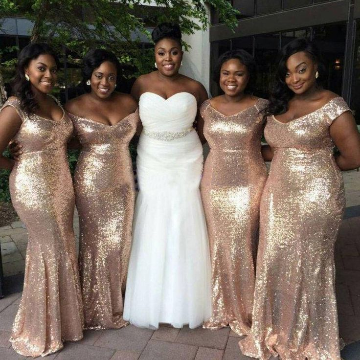 Buy Hot-Selling Straps Sequined Mermaid Bridesmaid Dresses Plus Size Bridesmaid Dresses under $139.99 only in Dressywomen.