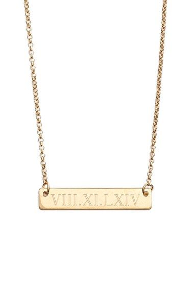 Argento Vivo Roman Numeral Bar Pendant Necklace available at #Nordstrom