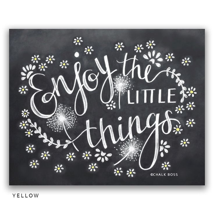 Enjoy The Little Things Art Print -  Chalkboard Print -  Chalk Art -  Chalkboard Decor -  Wedding Gift -  Wedding Gift - Paper Anniversary by ChalkBoss on Etsy https://www.etsy.com/listing/267735355/enjoy-the-little-things-art-print