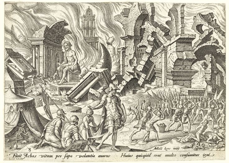 16th century visions of the ruins of religious wars drawing pinterest philips et jericho. Black Bedroom Furniture Sets. Home Design Ideas