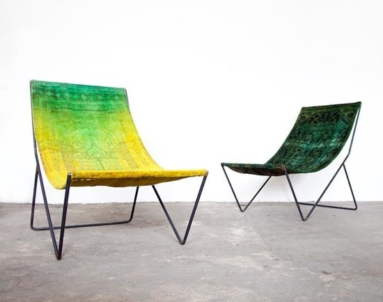 Over-Dyed sling chairs by Still+Co