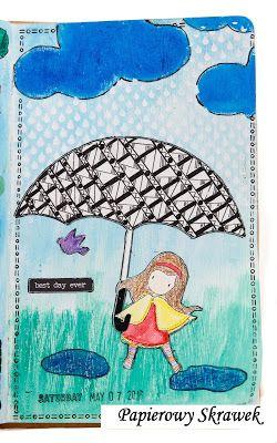 Papierowy Skrawek: Art journal- wyzwanie 2