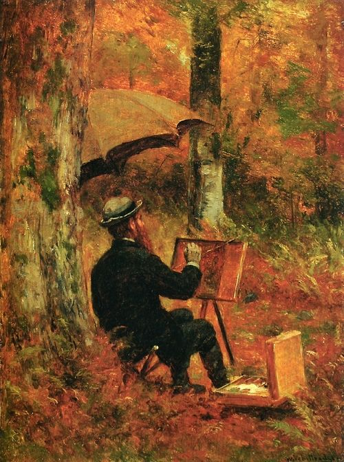 """""""An Artist at His Easel"""" by Thomas Worthington Whittredge (1891)"""