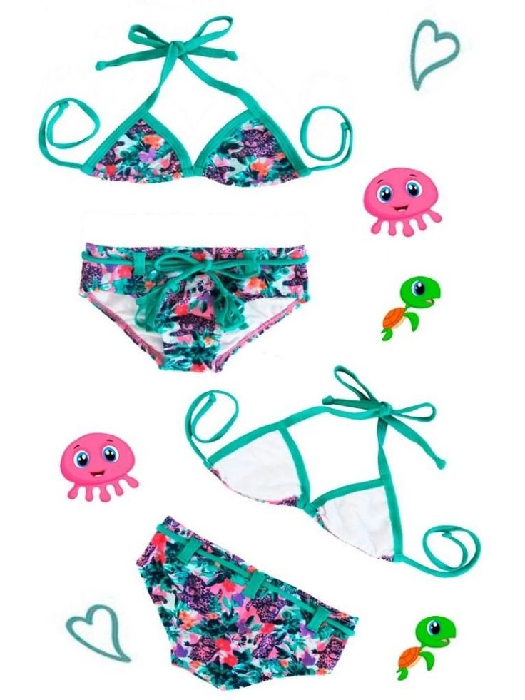 Biquini infantil cortininha — Moda Liquido Praia Fitness