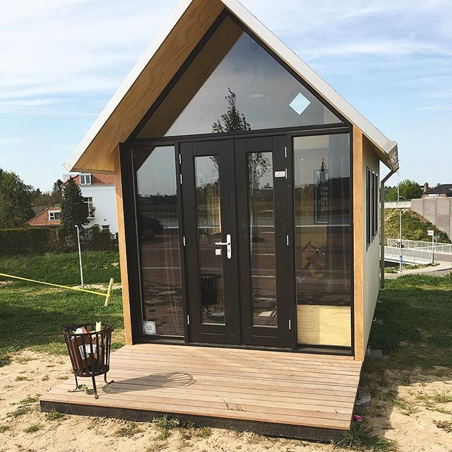 Our Single Tiny House at the BouwLab in Nijmegen. Check it out! #bouwlab #tinyhouse #millhome #tinyhousemovement #bouwlabnijmegen