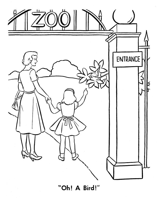 zoo animal coloring page zoo visit