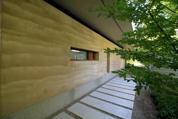 Rammed Earth Guest House. Aidlin Darling Design.