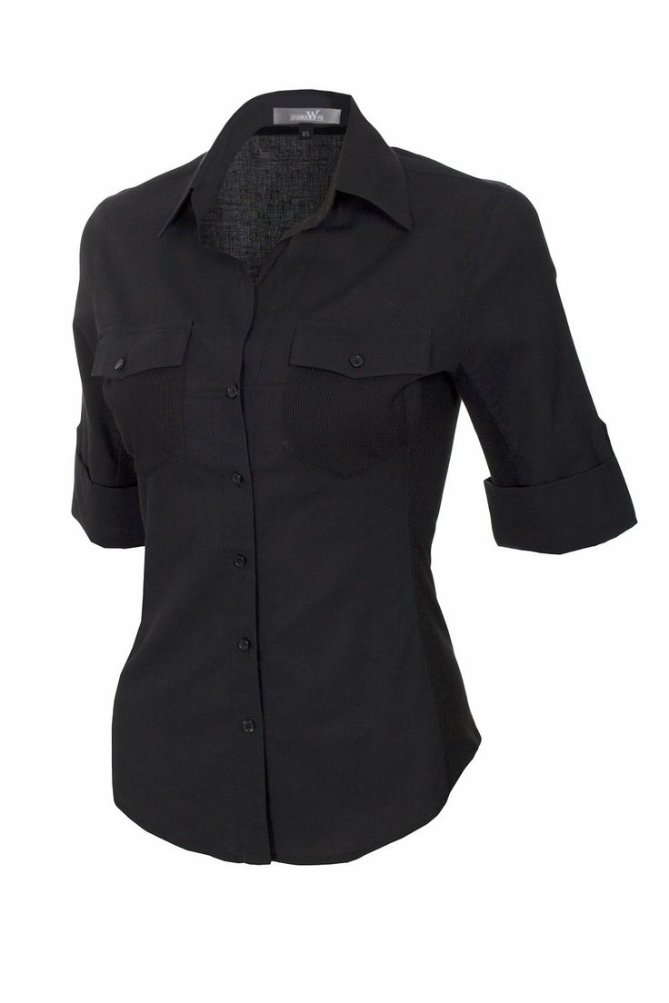 Womens Black Button Up Blouse | Fashion Ql