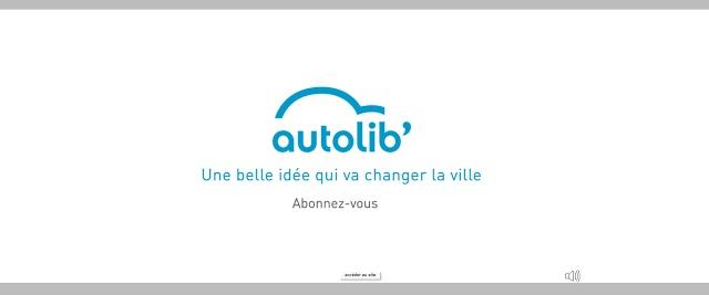 Autolib', un logo rond et bleu comme une orange