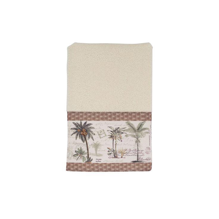 Avanti Colony Palm Hand Towel, White