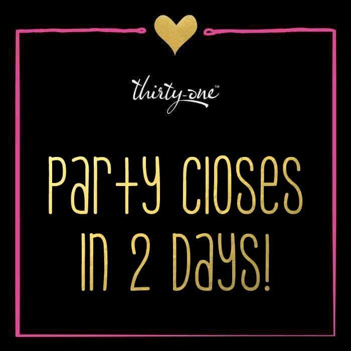 Party countdown - 2 days