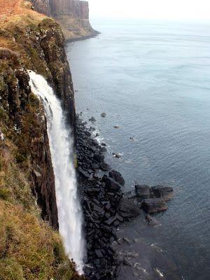 Waterfall and Kilt Rock on the Isle of Skye
