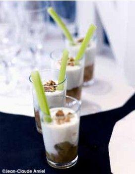 Crème de roquefort aux poires / Apéro