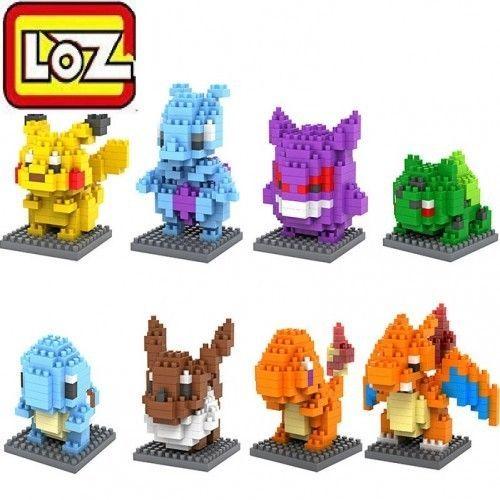 LOZ Pokemon Go Nano Block 8 Pcs/Set Diamond Mini Building Blocks Toys Mind Model