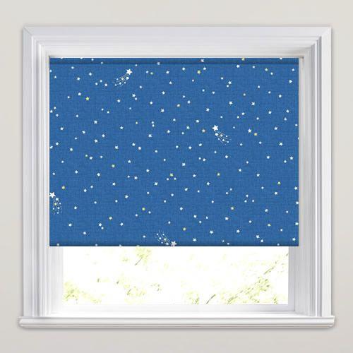 Little Star Bedtime Blue Roller Blind