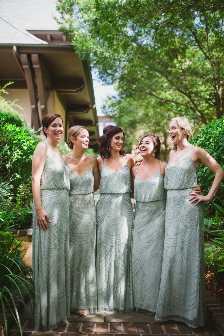 Best 25 metallic bridesmaid dress colours ideas only on pinterest mint adrianna papell bridesmaids dresses ombrellifo Choice Image