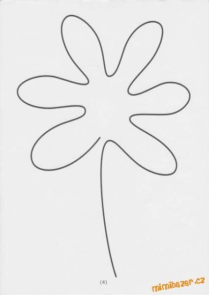 květinka - jedním tahem