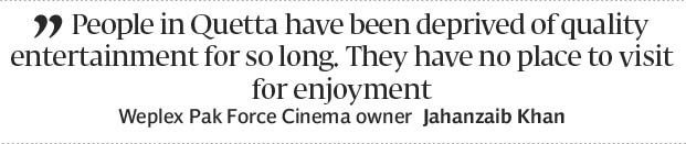 Quettas first multiplex to have the biggest curved screen in Pakistan - The Express Tribune
