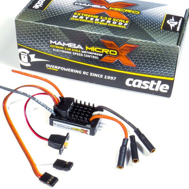 awesome Castle Creations 1/18 Mamba Micro X Waterproof ESC / Electronic Speed Control   Check more at http://harmonisproduction.com/castle-creations-118-mamba-micro-x-waterproof-esc-electronic-speed-control/