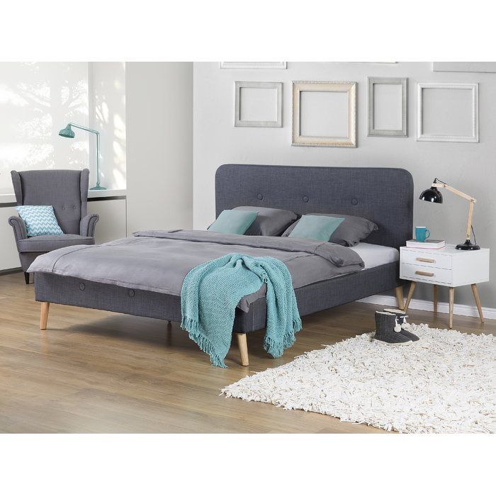 rochelle upholstered bed frame super king size