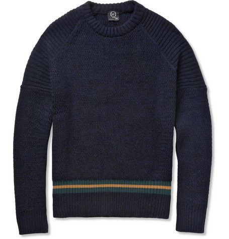 McQ Alexander McQueenKnitted Wool-Blend Crew Neck Sweater