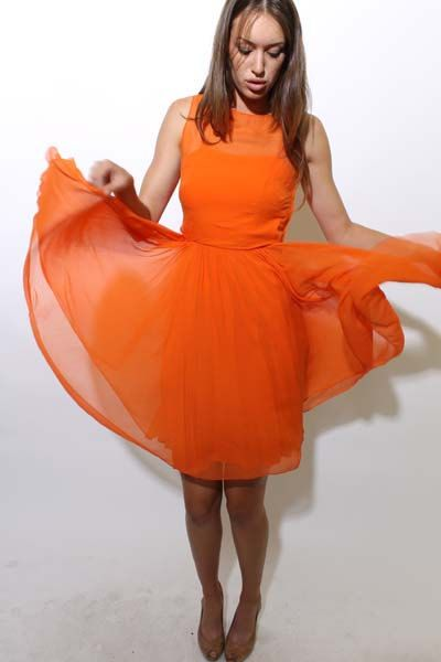 This is probably my favorite style so far for bridesmaid dresses in orange