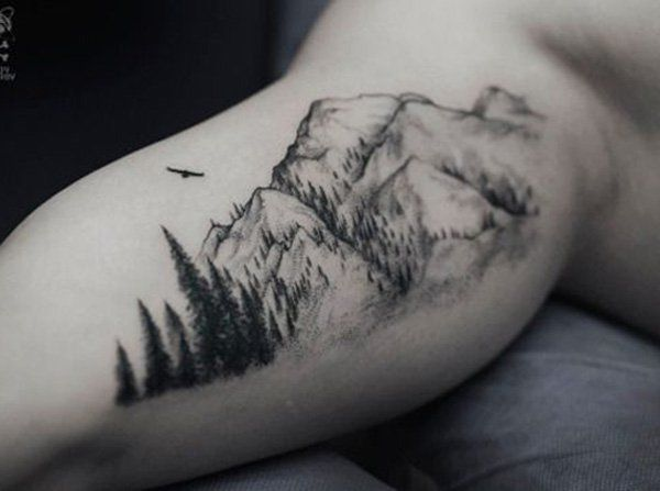 I really want a tattoo of the mountains. I love hiking about in nature. Thinking about this one on the under arm.