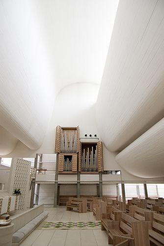 Bagsværd Church near Copenhagen (1968-76) Jorn Utzon. #architecture #allgoodthings #danish spotted by @missdesignsays