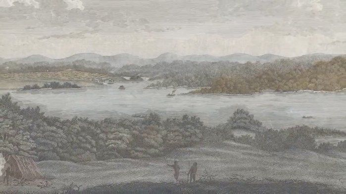'Port Jackson Harbour NSW' 1812 John Eyre