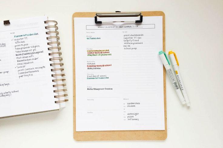 Imprimible-organizador semanal // weekly blueprint