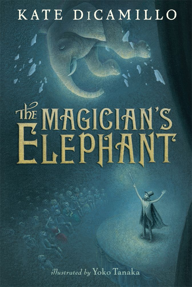 The Magician's Elephant by Kate DiCamillo is a story about a boy who thinks his sister has died long ago.  But when he goes to a fortune teller, he is told that Adele is alive and he should follow the elephant.  But where is a poor boy going to find an elephant? His story is what happens how and when he finds the Magician's Elephant.  This is a book on about the third grade or fourth grade reading level.